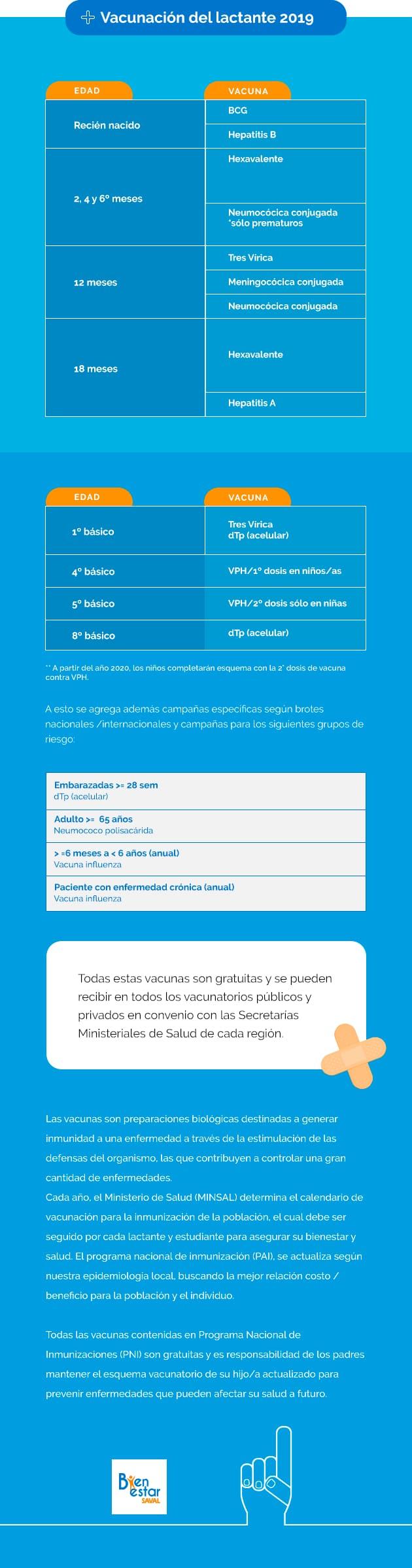 Calendario De Vacunacion 2020.Conoce El Calendario De Vacunacion 2019 Blog Bienestarsaval Cl